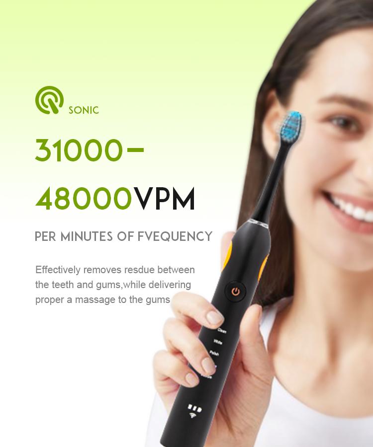 Cepillo de dientes eléctrico sónico con esterilización UV