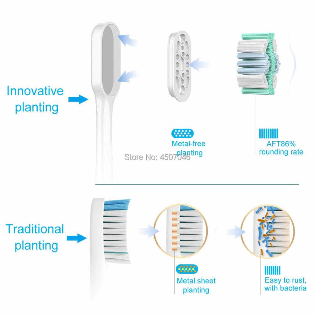 Elektrischer Zahnbürstenbürstenkopf Neuestes metallfreies Pflanzen